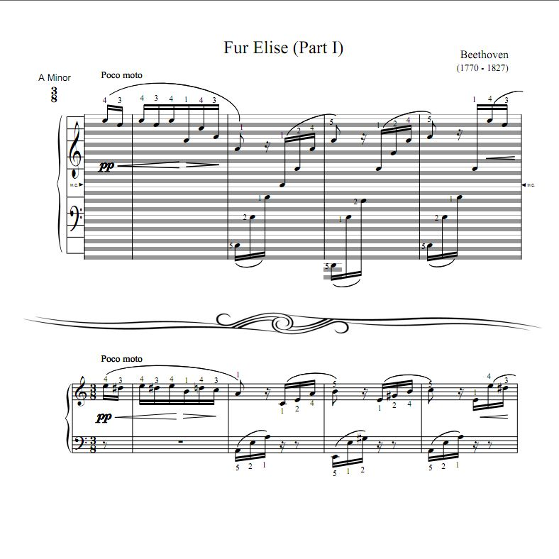 Fur Elise (Part I) : Haostaff.com