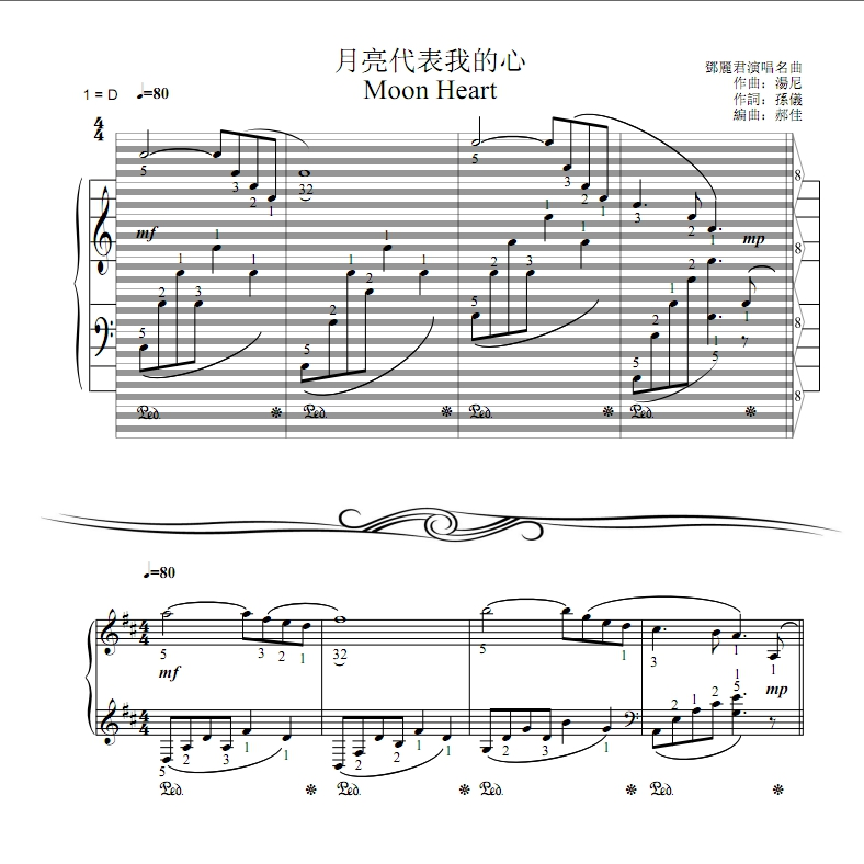 Canon In D Pachelbel Jazz Version For Piano Solo Sheet: Hao Staff And Grand Staff : Haostaff.com